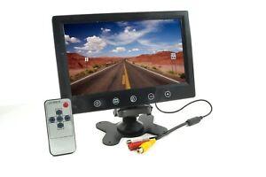 MONITOR-LCD-TFT-9-034-POLLICI-CON-TELECOMANDO-DOPPIO-INGRESSO-VIDEO-RETROMARCIA-AV