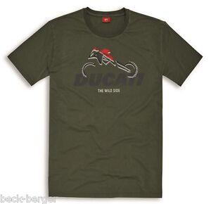 New Art manica T a Enduro corta Multistrada Olive Ducati shirt Graphic vqxawZgH