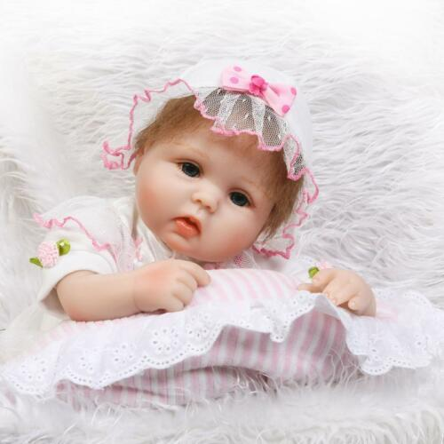 17 Handmade Silicone Reborn Baby Princess Girl Doll Real Lifelike Soft Vinyl