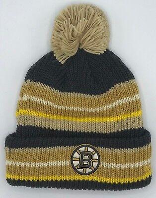 Apprehensive Nhl Boston Bruins Adidas Cuffed Pom Winter Knit Hat Cap Beanie Style #kw98z New Basketball