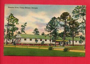 CAMP-STEWART-GEORGIA-GA-HOSPITAL-AREA-1943-POSTCARD