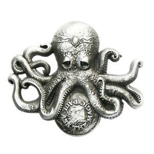 Ask-The-Magic-Paul-I-Guertelschnalle-Oktopus-Octopus-Krake-Polpo-Pulpo-Kraken