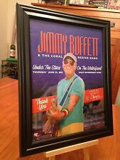 BIG 10x13 FRAMED JIMMY BUFFETT LIVE IN OLYMPIA WA 6/25/15 CONCERT TOUR PROMO AD