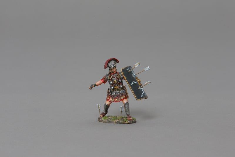 THOMAS GUNN ROM052B - Defending Centurion (30th Legion) Painted Metal Figure