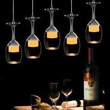 Crystal Wine glasses Bar Chandelier Ceiling Light Pendant Lamp LED Lighting+Bulb