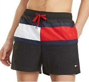 Tommy-Hilfiger-Mens-Designer-Board-Shorts-Swim-Trunks-Black-Size-M-L-or-XL