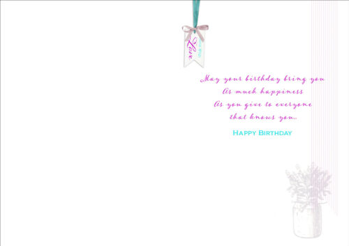 Bow DAUGHTER IN LAW BIRTHDAY GREETING CARD *FLOWERS* Personalised or not Verse