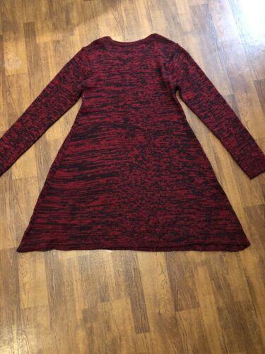 Bobbi Brooks Ladies Sweater Dress Size Large Red B