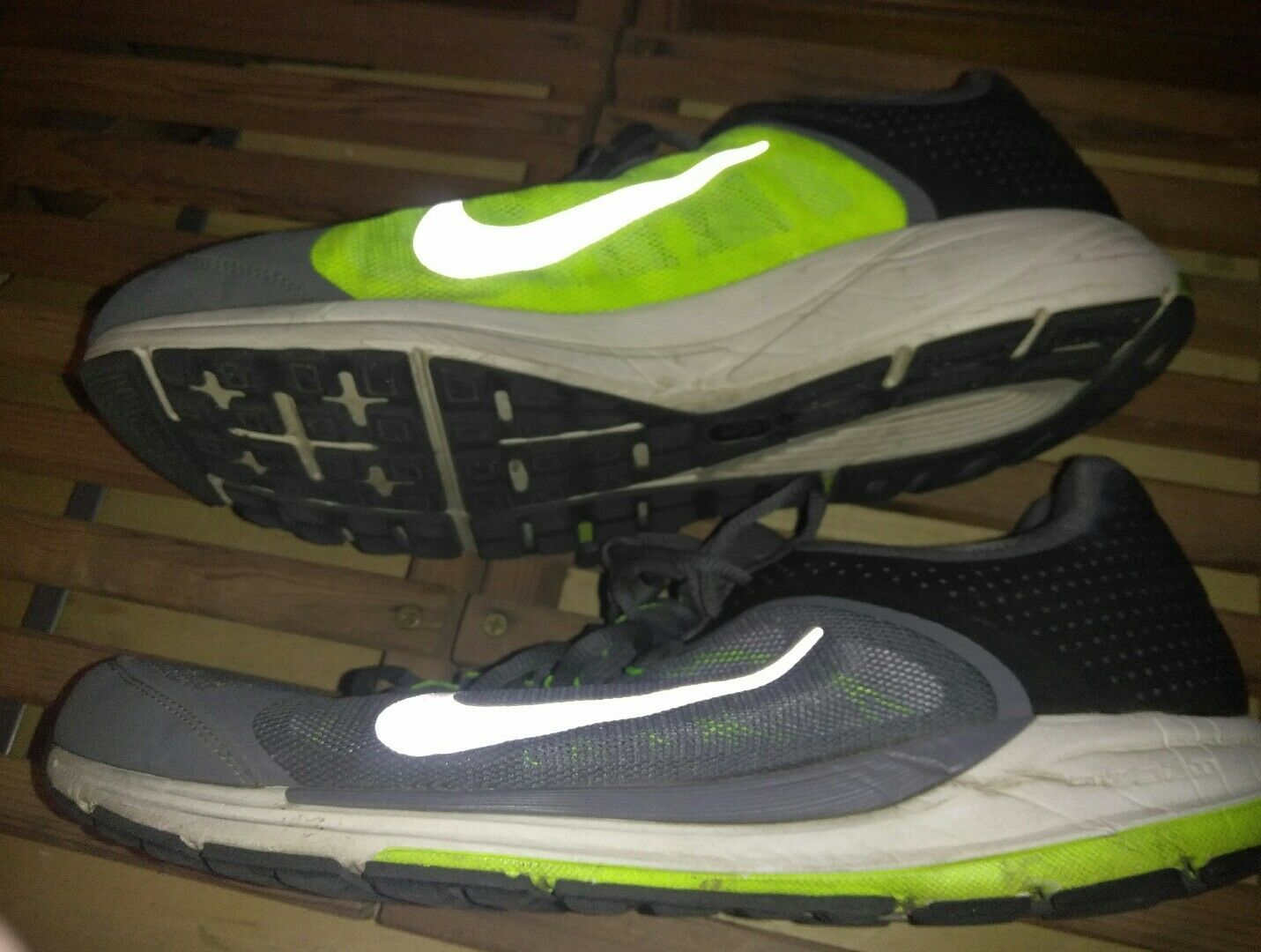 Nike ZM Zoom Elite+ 6 Running Shoes Men's Size Size Size US 14  554729-001 grey day glow ffe14f