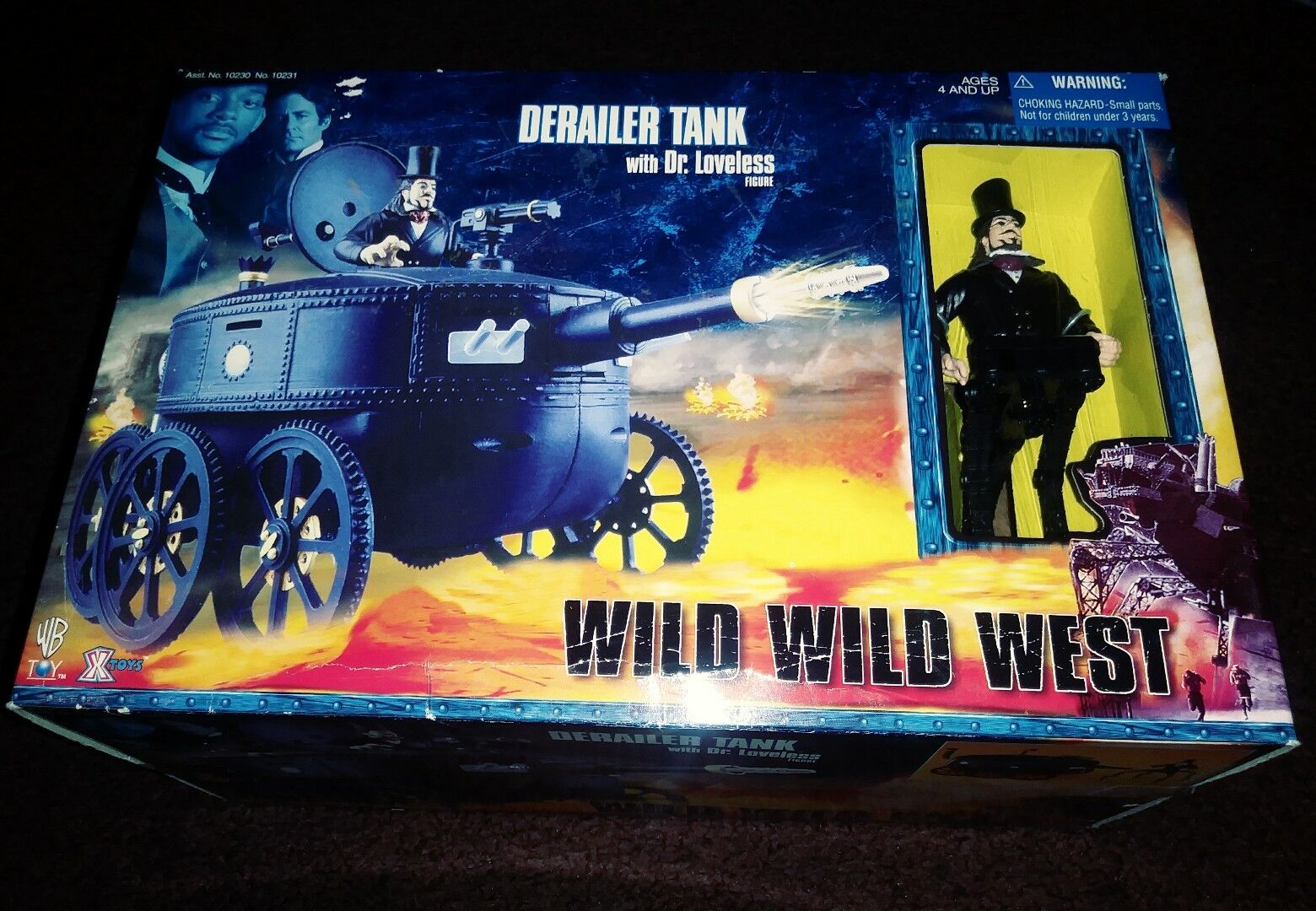 New Wild Wild West Derailer Tank With Dr. Loveless Figure 1999 Rare Freeshipping