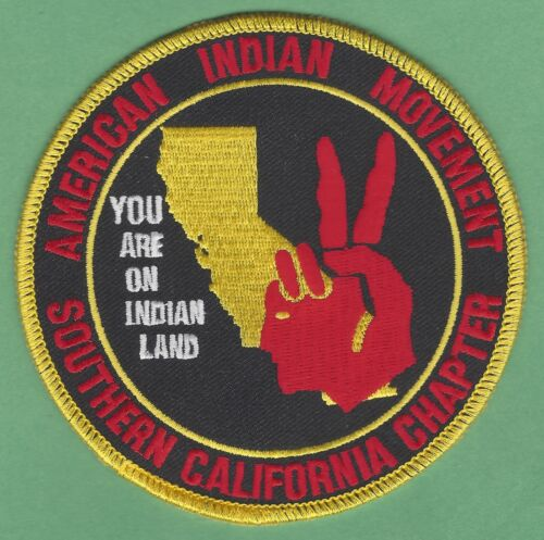 AIM AMERICAN INDIAN MOVEMENT SOUTHERN CALIFORNIA CHAPTER PATCH