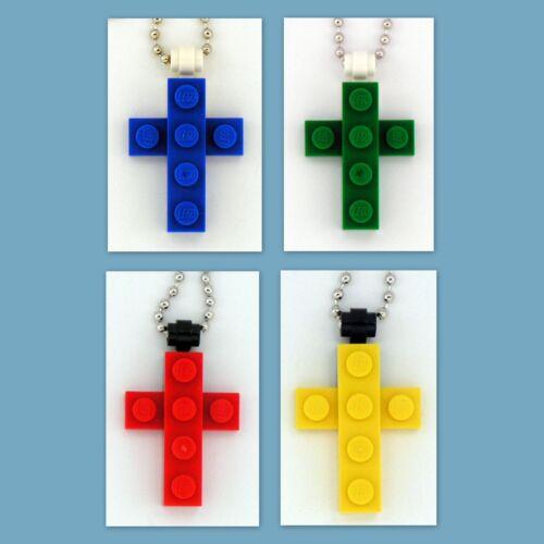 Birthday Party Favor 4-48 Lot Necklace w// Custom LEGO Mini Cross Pendant