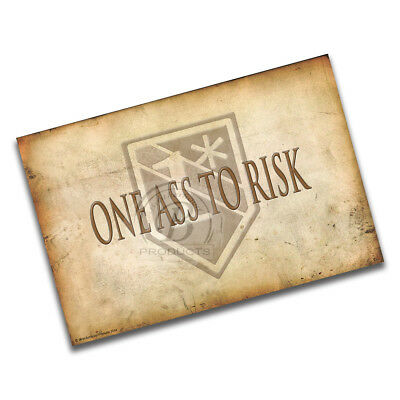Latin Translation of One Ass To Risk Rustic Background 1* Emblem Poster