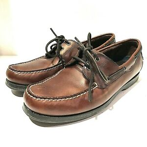 Details about Dockers Men's Castaway Brown Leather Classic Rubber Sole Boat Shoe 11 M