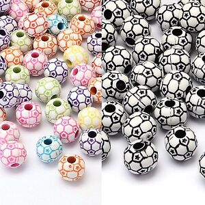 Mixed-Soccer-Football-Beads-approx-12mm