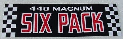 Mopar 440 6 PACK A//C Decal 70 71 Challenger Charger pak DD0221