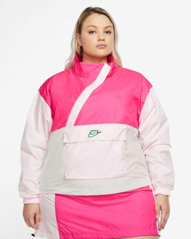 Nike Sportswear Icon Clash Anorak Jacket Hyper Pink Cz3382-639 Womens Size 1x