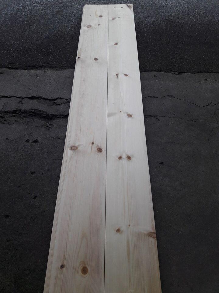 Plankegulv, Fyrtræ, massiv