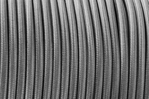 Vintage Tissu éclairage 3//2 Core Cable 0.75 mm tressé électrique Cordon Rond//Twisted