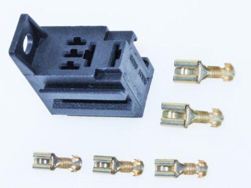 Sockel f Kfz Micro Relais inkl 5 Flachsteckhülsen anreihb Relaissockel Auto