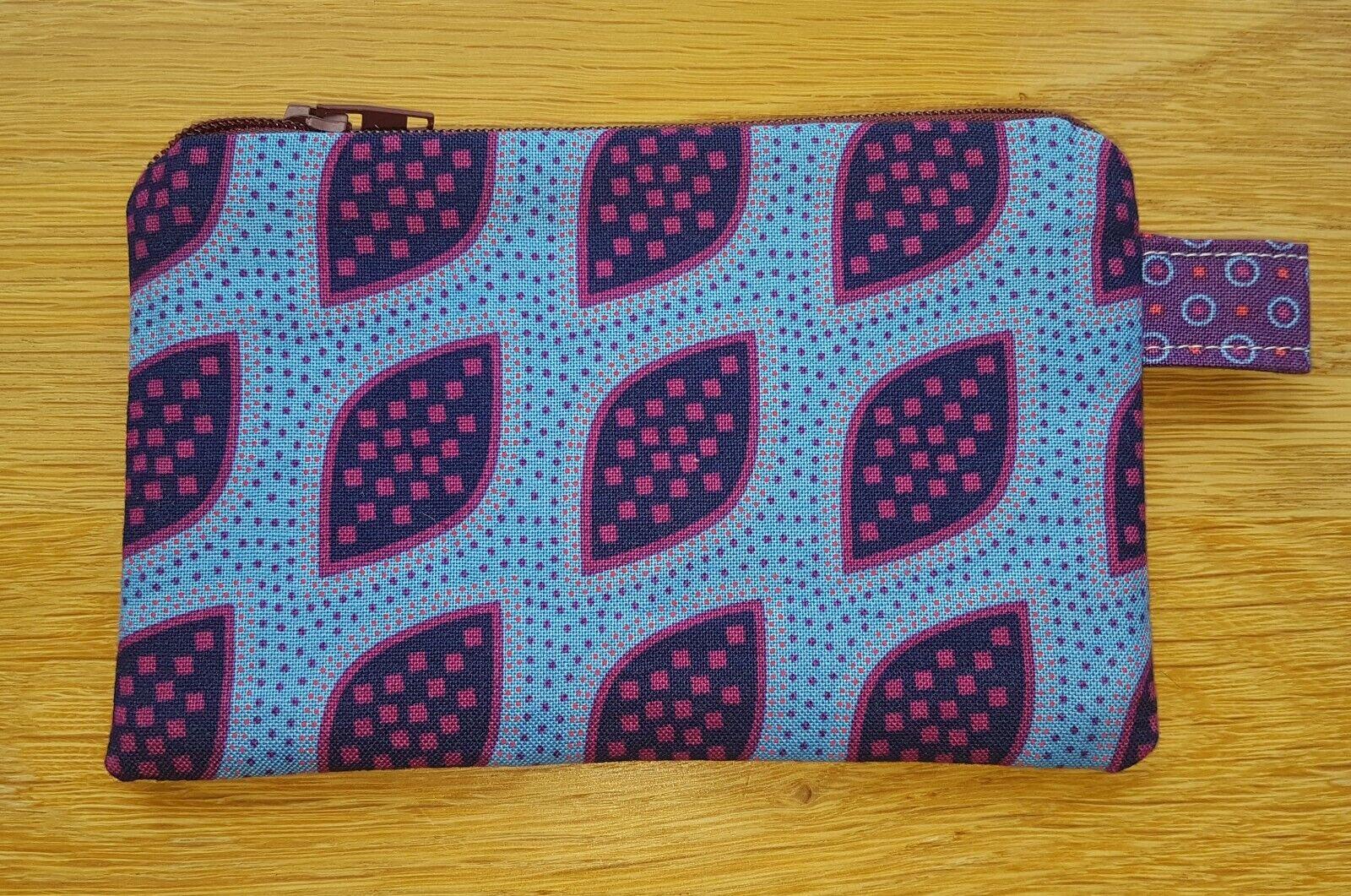 LEAF zipped pouch coin purse free 1st class p & p Makoti Stuart Hillard fabric
