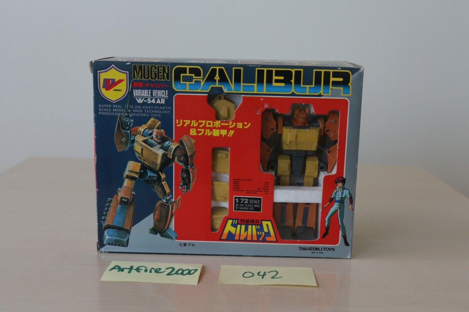 Takara Diaclone Pre-Transformers Takatoku Mugen Calibur Menta en caja Transformers G1 Road Buster