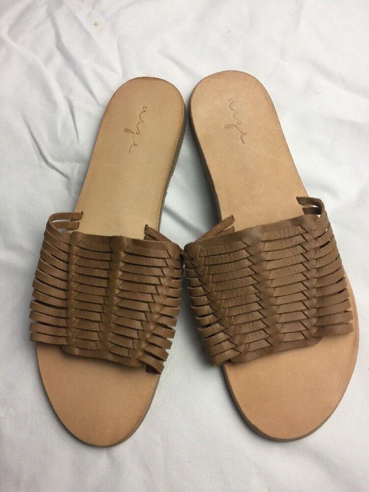 Nuevo sin etiquetas Anthropologie instar instar instar a Mujer Zapatos tamaño nos 10 EU 41 tan trenzado Sandalias  diseño único