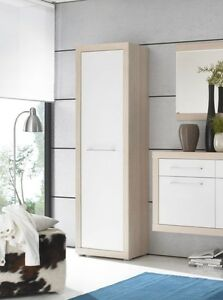 creda garderobenschrank dielenschrank schrank f diele dekor eiche sonoma wei ebay. Black Bedroom Furniture Sets. Home Design Ideas