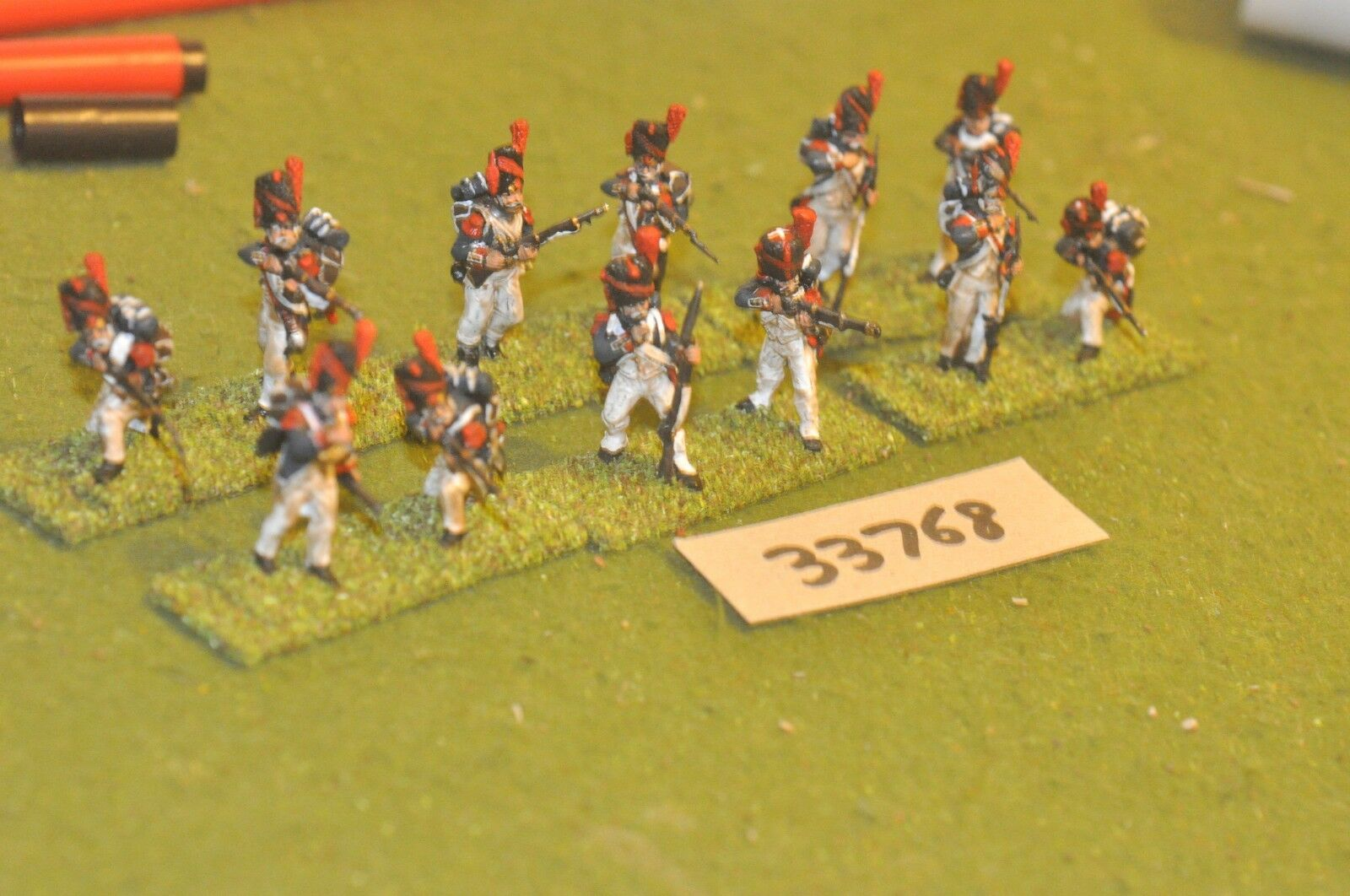 25mm napoleonic   french - old guard (plastic) 12 figures - inf (33768)