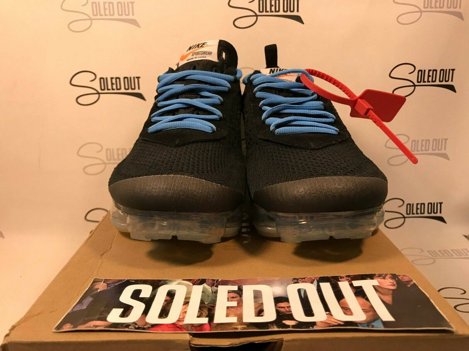NIKE AIR VAPORMAX FK  OW BLACK  2018 ITEM NUMBER 5970-1