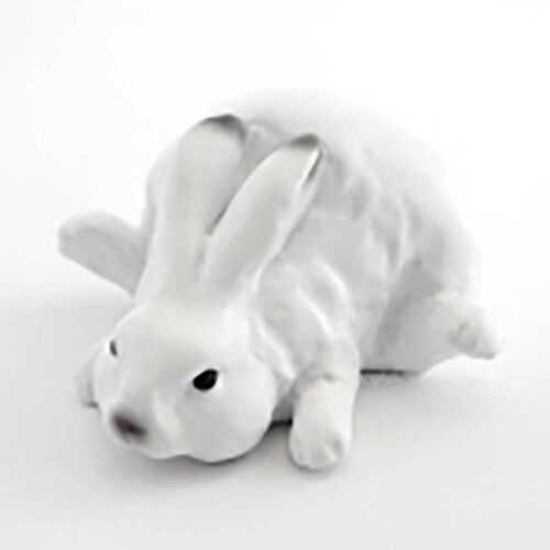 NEW 1 Inches Tall Cute Snow Bunny Lying Miniature Statue 4433