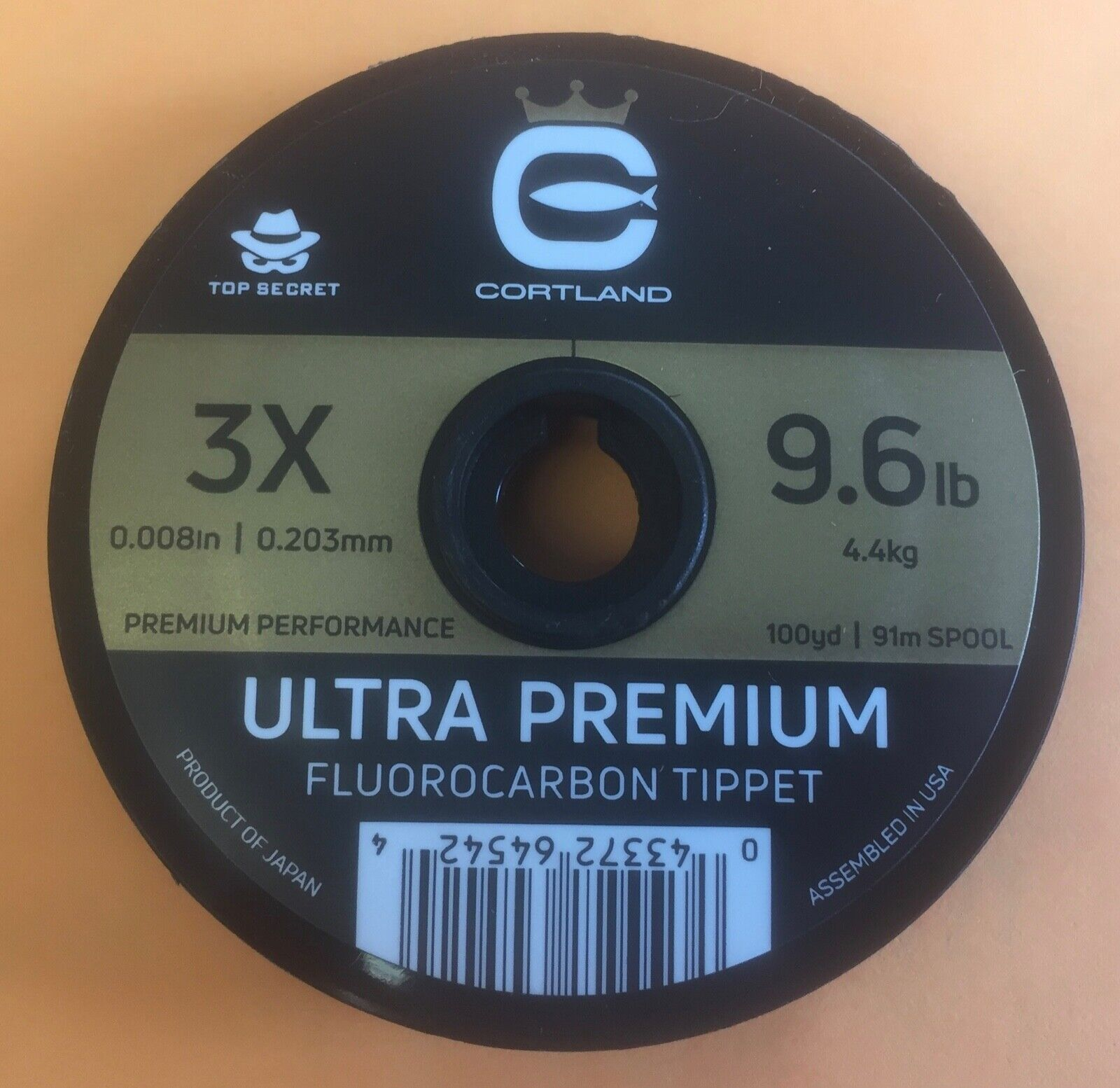 Cortle Ultra Premium Fluoroautobon Tippet 3X 100 Yards Top Secret