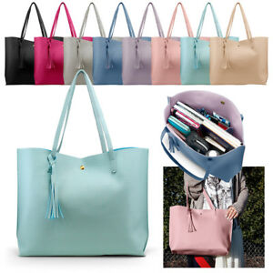 Women Synthetic Leather Handbag Shoulder Ladies Purse Messenger Satchel Tote Bag