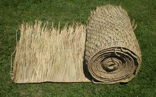 SALE 3-30 x8' Commercial Grade Palapa Palm Leaf Thatch Roll  4908