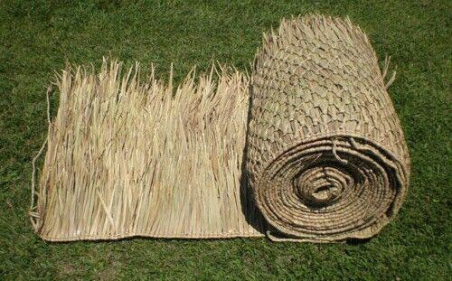 "* SALE 3 pcs of 30/""x8/' Commercial Grade Palapa Palm Luau Leaf Tiki Thatch Roll"