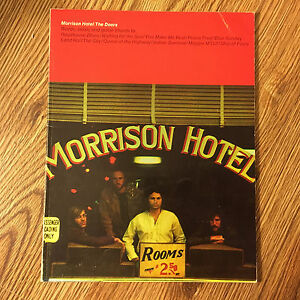 Morrison Hotel The Doors Words Music Guitar Chords Free Shipping