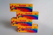 4 Rolls KODAK Gold 110 color print film ISO400 24 exposures