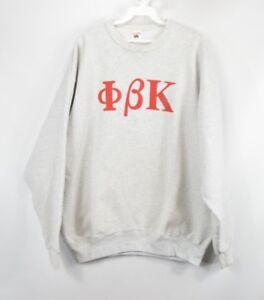 7f54cd94d708 Vintage 80s Mens XL Phi Beta Kappa Honor Society Crewneck Sweater ...