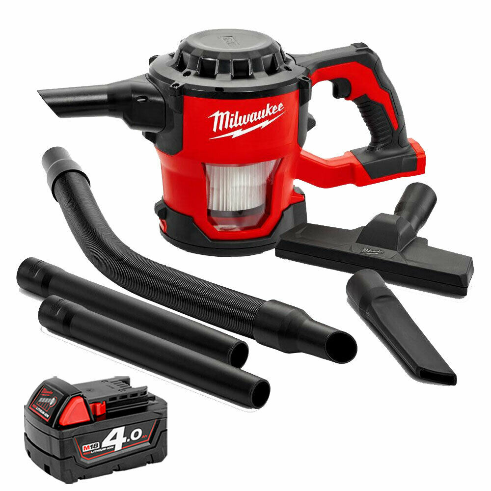 Milwaukee M18CV-0 18V M18 Compact Hand Vacuum With 1 x 4.0Ah M18B4 Battery