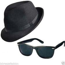 2 x BLUES BROTHERS HAT & GLASSES SUNGLASSES COSTUME FANCY DRESS H38 163