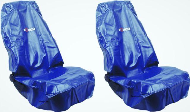 2 Funda Asiento Piel Artificial de Lavable Förch Protector Taller Cubreasientos