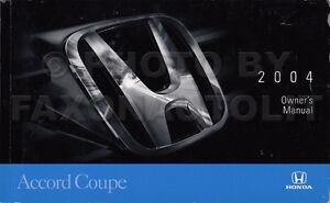 new 2004 honda accord coupe owners manual original 2 door owner rh ebay com honda element 2004 owners manual honda accord 2004 owners manual