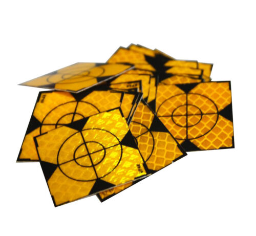 100PCS Yellow Reflector Sheet 60x 60mm Reflective Tape Target for Total Station