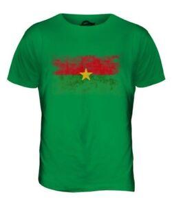 shirt Haut Burkina Burkinab Délavé Hommes Pour Faso football Drapeau T Cadeau XR0TwqF