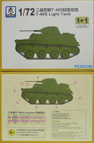 S-Model 1//72 Leichter Panzer T-40 S Doppelpack,Plastk mit Ätzteilen NEU,