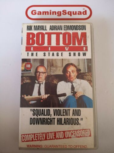 Bottom Live, The Stage Show VHS Video Retro, Supplied by Gaming Squad
