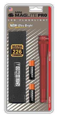 MAGLITE SP2P03HK Red LED Handheld Flashlight Alkaline AA 2208lm