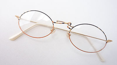 Bello Montatura Occhiali Figata Telaio Fuori Uso Ovale Occhiali Quadro Allegria Size M-mostra Il Titolo Originale Materiali Di Alta Qualità