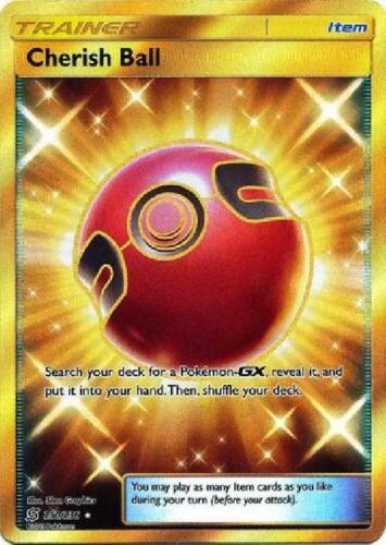 Secret Rare Near Mint Sun /& Moon Unified Minds 250//236 Cherish Ball
