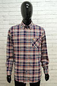 Camicia-Uomo-MARLBORO-CLASSICS-Taglia-Size-L-Maglia-Shirt-Man-Quadri-Regular-Fit